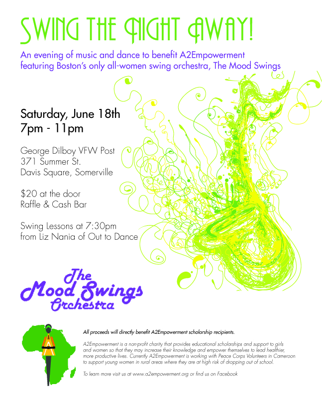 6/18/2011 - Fundraising Benefit Featuring The Mood Swings! 7 - 11 pm @ George Dilboy VFW Post, 371 Summer St., Davis Square, Somerville - $20 at the door; Raffles, Cash Bar, Swing Lessons!